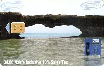 Telephone Card Eritel 34 Nakfa.