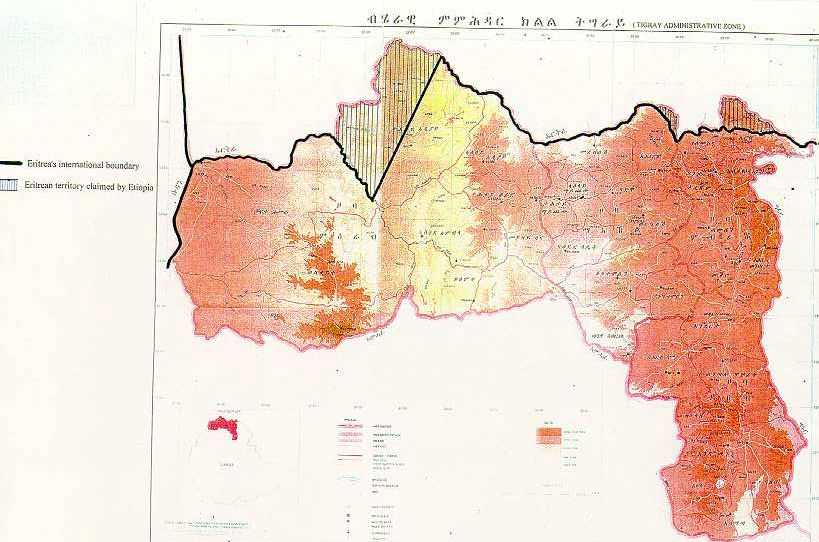 Image result for map published in the Tigrayan capital, Mekele,.